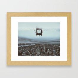 The floating bridge Framed Art Print