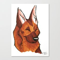 Brush Breeds-German Shepherd Canvas Print