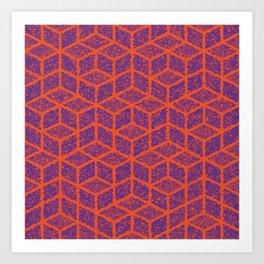 Kenna (Orange and Violet) Art Print