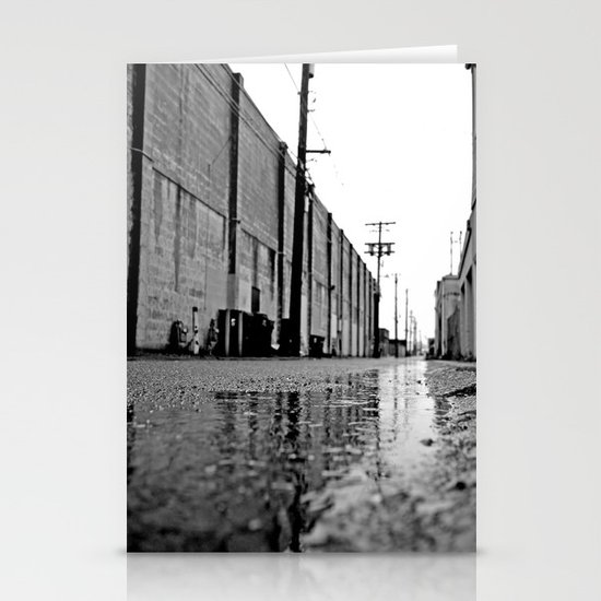 Gritty urban alley Stationery Cards