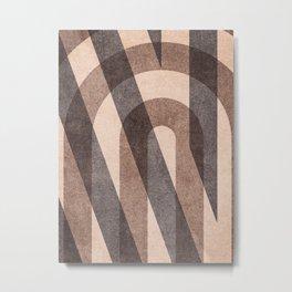 ABSTRACT ALPHABET / Decorative N Metal Print