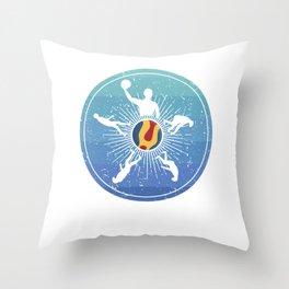 Waterpolo Evolution Retro Development Vintage Throw Pillow