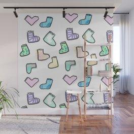 sock pattern Wall Mural