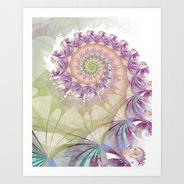 Watercolor Fibonacci Spiral Art Print