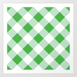 Gingham - Green Art Print