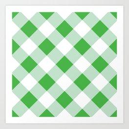 Gingham - Green Art Print