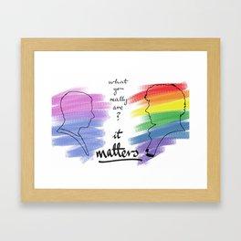 Johnlock LGBT pride (out version) Framed Art Print