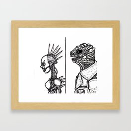B&W Weirdos 17 Framed Art Print
