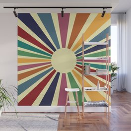 Sun Retro Art II Wall Mural