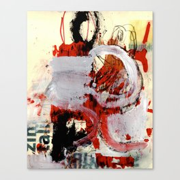 zim zam one black one red Canvas Print