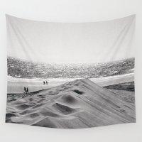 2001 Wall Tapestries featuring Walking the beach NO1 by Julia Aufschnaiter