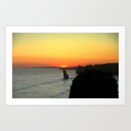 Sunsetting over the Great Southern Ocean Art Print