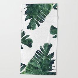Banana Leaf Watercolor #society6 #buy #decor Beach Towel