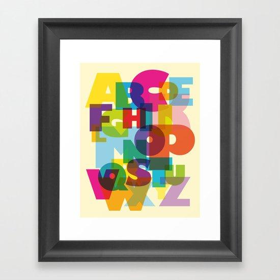 ABC in colour Framed Art Print
