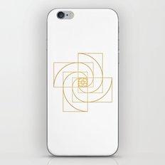 Golden Pinwheel iPhone & iPod Skin