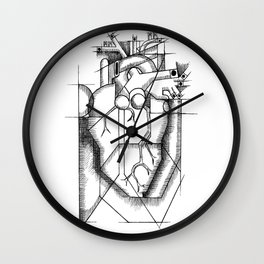 Cubed Heart Wall Clock