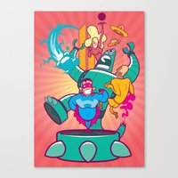 heroes Canvas Prints featuring Heroes by ANDY