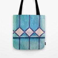window Tote Bags featuring window by Claudia Drossert