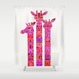 Giraffes – Magenta Ombré Shower Curtain