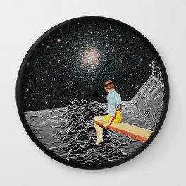 unknown pleasures to Infinity Wall Clock