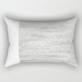 Gray Wool Rectangular Pillow