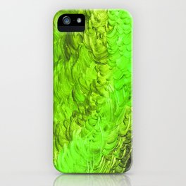 Fever And Feathers, #3, Green iPhone Case