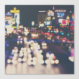 Las Vegas ... the neon town!  Canvas Print