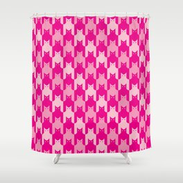 Pink Catstooth Pattern Shower Curtain