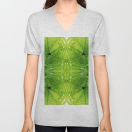 508 - Abstract Fern Design Unisex V-Neck
