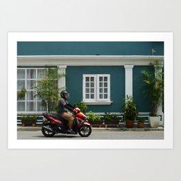 Streets of Melaka Art Print