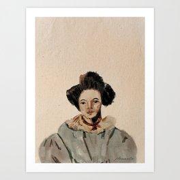 Old fashioned portrait Art Print