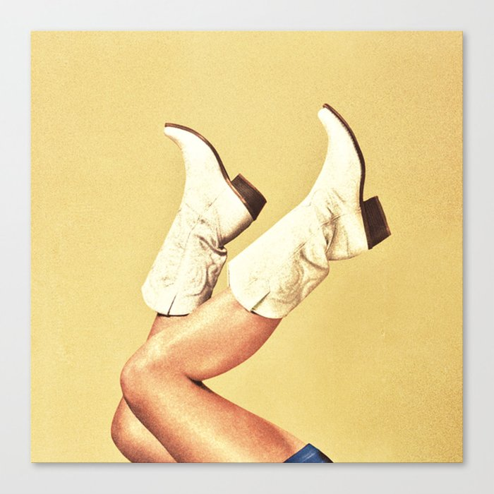 These Boots - Yellow Leinwanddruck