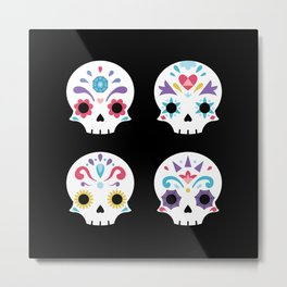 Cute sugar skulls B Metal Print