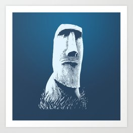 Moai #1 Art Print
