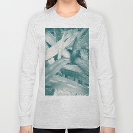Tropical texture in gradient of blue colours ready for many products Long Sleeve T-shirt