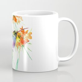 Hummignbird and Flowers Coffee Mug
