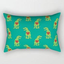 T-rex Love Rectangular Pillow