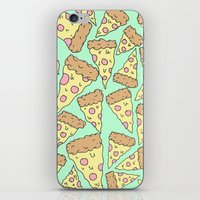 pizza iPhone & iPod Skins featuring Pizza by Evan Smith
