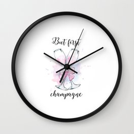 Champagne sign.Champagne Decor,Champagne Poster,Party Decor,But First Champagne,Alcohol Gift Wall Clock