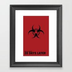 28 Days Later   Minimal Movie Poster Framed Art Print