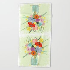 Bringing Summer Wildflowers Inside Beach Towel