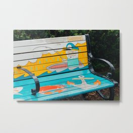Colorful Bench - Olympia, WA Metal Print