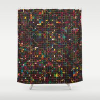 led zeppelin Shower Curtains featuring LED 3 by Simon C Page