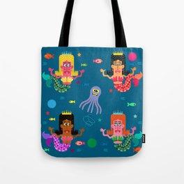 Mermaid Sisters Tote Bag