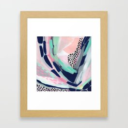Walking My Unicorn Framed Art Print