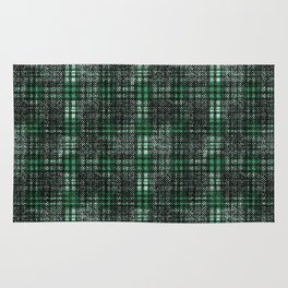 Classical black and emerald cell. Rug