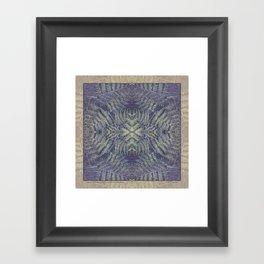 SYMMETRICAL PASTEL PURPLE BRACKEN FERN MANDALA Framed Art Print