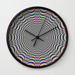 Psychedelic Web Wall Clock