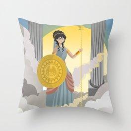 minerva athena goddess Throw Pillow
