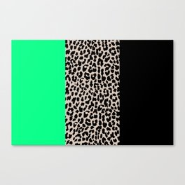 Leopard National Flag XIII Canvas Print
